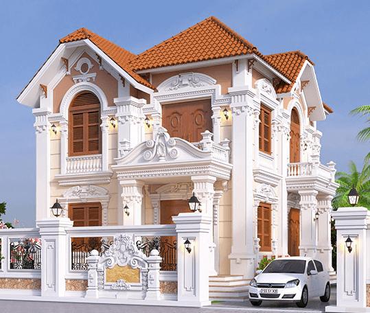 Mẫu biệt thự phong cách Pháp cổ điển