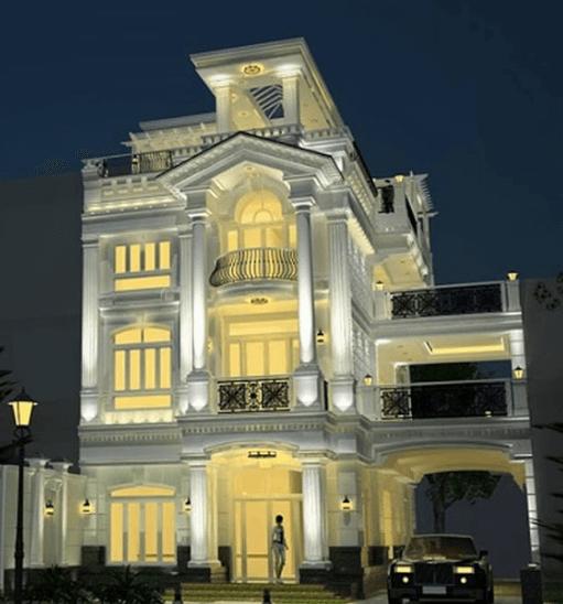 Mẫu biệt thự Pháp cổ điển, sang trọng