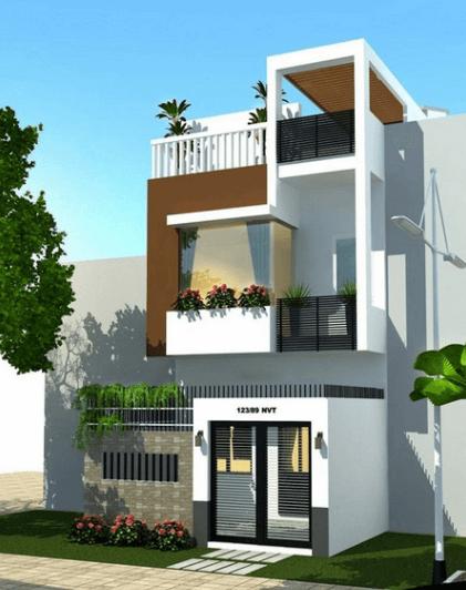 Mẫu nhà 2 tầng 1 tum lệch tạo nên sự khác biệt cho ngôi nhà - 09
