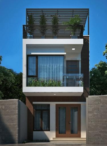 Mẫu nhà 2 tầng - 1 tum diện tích 7m x 10m