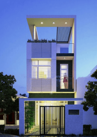 Mẫu nhà 2 tầng- 1 tum đẹp, hiện đại, sang trọng