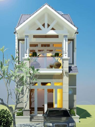 Mẫu nhà 2 tầng đẹp, đơn giản, sang trọng