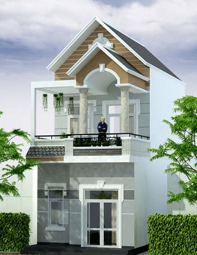 Mẫu nhà 2 tầng diện tích 6m x 13m
