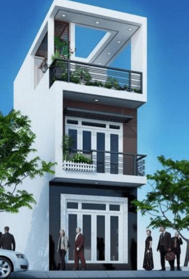 Mẫu nhà 2 tầng mái bằng đẹp - 04