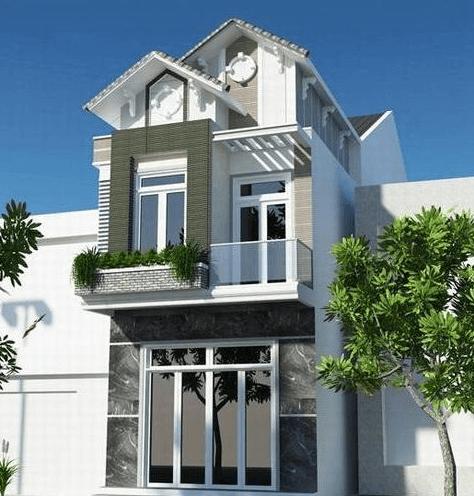 Mẫu nhà 2 tầng mái ngói đôi tạo sự khác biệt cho căn nhà
