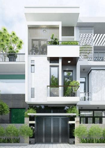 Mẫu nhà 2 tầng - 1 tum được thiết kế vô cùng hiện đại