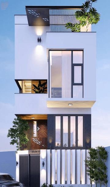 Mẫu thiết kế nhà 2 tầng đẹp, hiện đại, sang trọng