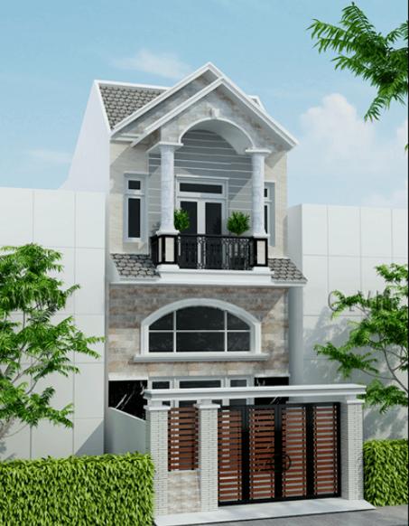 Mẫu nhà 2 tầng cổ điển, dễ thiết kế