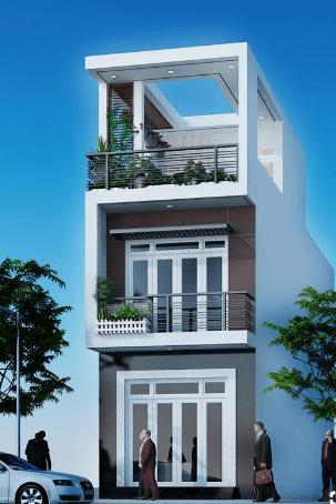 Mẫu thiết kế nhà 2 tầng - 1 tum đẹp, hiện đại, sang trọng