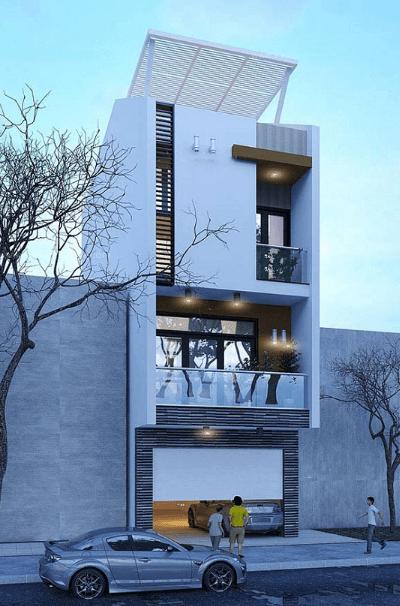 Mẫu nhà 3 tầng - 1 tum hiện đại, thể hiện phong cách, cá tính riêng biệt