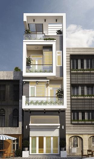Mẫu nhà 3 tầng - 1 tum đẹp, hiện đại, dễ thiết kế