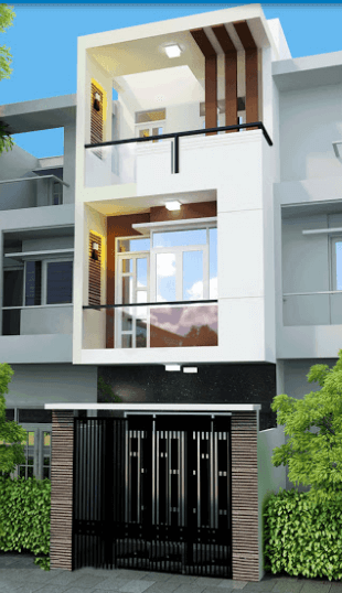 Mẫu nhà 3 tầng đơn giản, đẹp, dễ thiết kế 5.5m x 13.5m