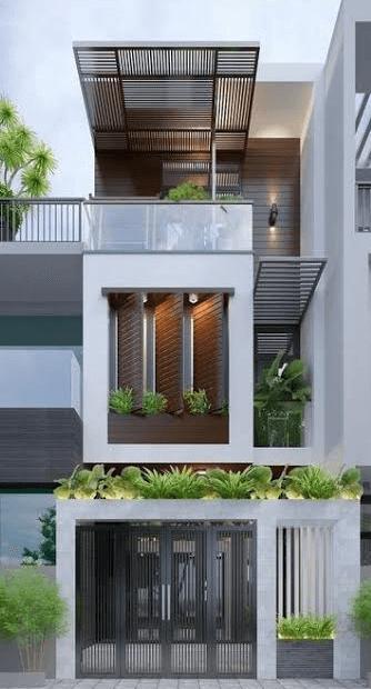Mẫu nhà 3 tầng hiện đại - đẹp - lạ