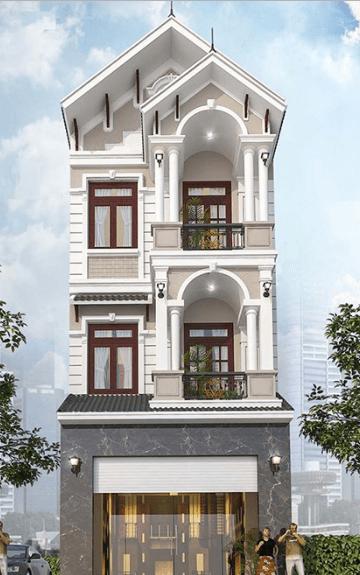 Mẫu nhà 3 tầng cổ điển, sang trọng
