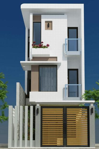 Mẫu nhà 3 tầng đơn giản, dễ thiết kế