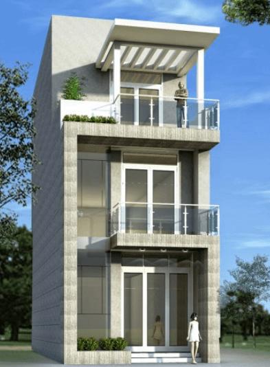Mẫu thiết kế nhà 3 tầng đẹp, hiện đại