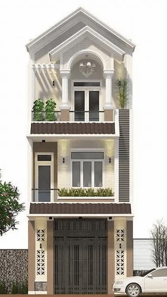 Mẫu nhà 3 tầng đẹp - cổ điển - sang trọng