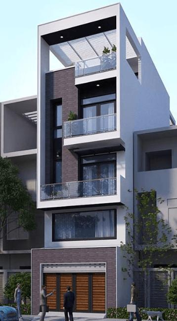 Mẫu nhà 3 tầng hiện đại - đẹp