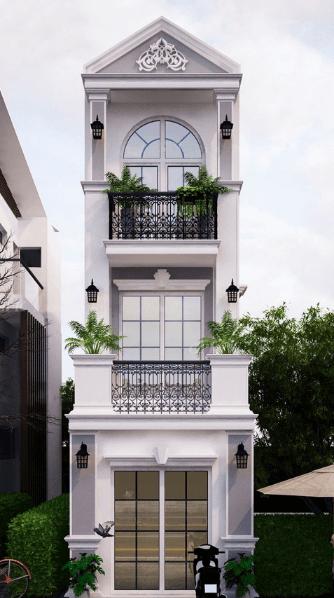 Mẫu nhà 3 tầng dành cho diện tích 4.5mx 14m