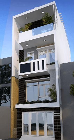 Mẫu nhà hộp 3 tầng mái bằng đẹp - hiện đại