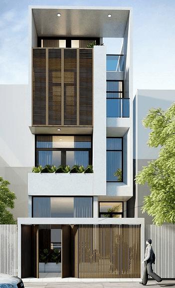 Mẫu nhà 3 tầng được thiết kê phong cách hiện đại - đẹp - lạ