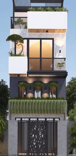 Mẫu nhà 3 tầng hiện đại - đẹp - cá tính