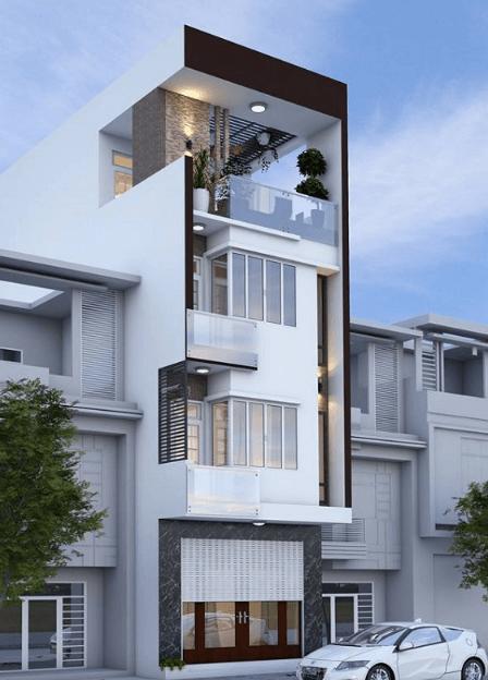 Mẫu nhà 3 tầng đẹp - đơn giản
