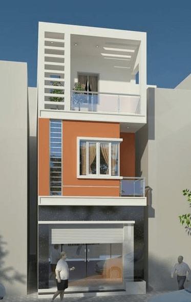 Mẫu nhà 3 tầng đơn giản - dễ thiết kế