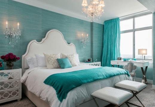 Chọn màu sắc nhẹ nhàng, hài hòa, dịu nhẹ để đạt được sự cân bằng phong thủy tốt trong phòng ngủ vợ chồng bạn